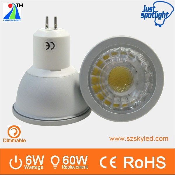 Ra80 mr16 gu5.3 dimmable ce certification gu5.3 24v led spot light 6w led lampen gu5.3 spot light