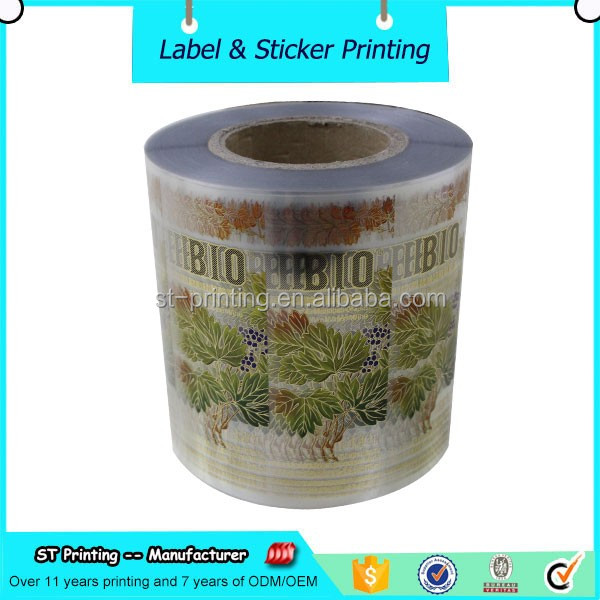 Self adhesive clear PP/PET transparent label sticker for cosmetics