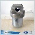 Low pressure hydraulic pressure line filter housing