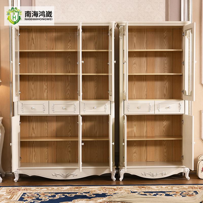 zwei drei t r wei franz sisch stil home office holz b cherregal m bel mit glast ren modell. Black Bedroom Furniture Sets. Home Design Ideas