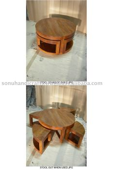 ROUND COFFEE TABLE, STOOL, TEA TABLE, CENTER TABLE, KIPLING