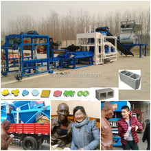 Concrete Brick Raw Material and hydraulic cement brick making machine,middle Type cement brick making machine in india