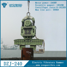 Frequency Variable Marine Conductor Driving Machines DZJ240 Electric Vibratory Hammer
