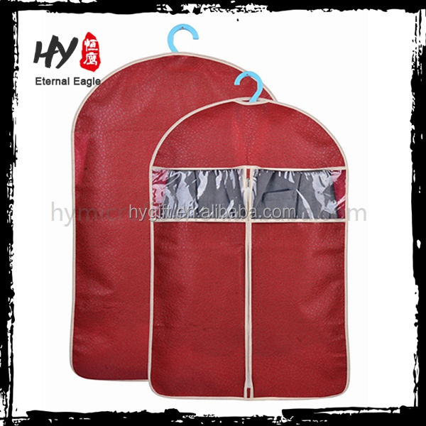 The lightweight folded non woven carry custom garment bags wholesale
