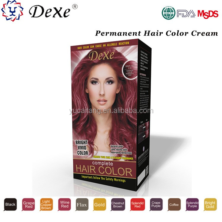 permanent hair yellow hair color cream with good price for dye hair by yourself at home