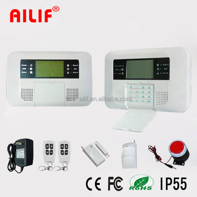2015 Smart Low-cost Wireless LCD Home GSM Alarm System ALF-GSM07