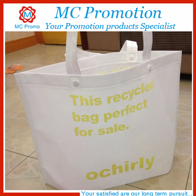 Custom recycled non-woven shopping bag