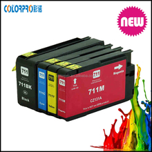 High capacity compatible ink cartridge for hp 711, 711xl compatible ink cartridge use for hp T120 T520