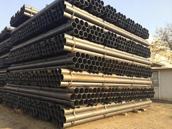 construction building black round metal carbon ERW steel pipe