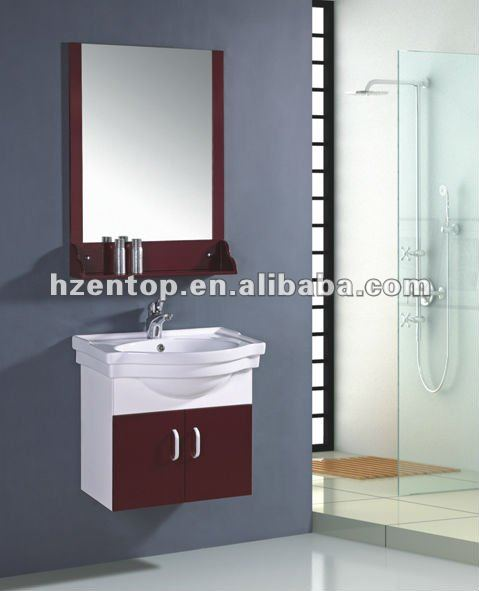 PVC bathroom vanity unit with marble top P-6013