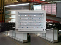 Commercial supermarket refrigerator showcase for fruit and vegetable