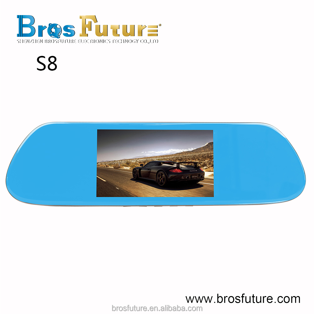 5.0 inch screen rear view mirror mini hidden button camera car dv dvr