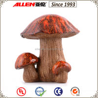 Best sale lovely shape durable resin material large mushroom decorations