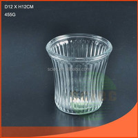 Good quality clear glass vase made in china with ISO9001-2008