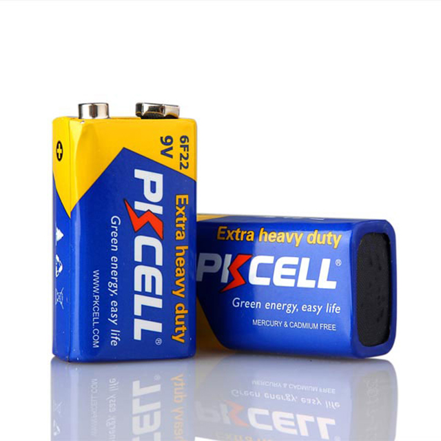 OEM or PKCELL 6F22 9V Primary Dry Batteries with new package