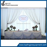 Romantic design elegant soft draped fabric wedding backdrop