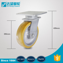 Polyurethane Tread Cast iron core moving caster wheels for platforms factory