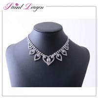 Luxury Imitation Jewelry Necklace Fahsion Pave