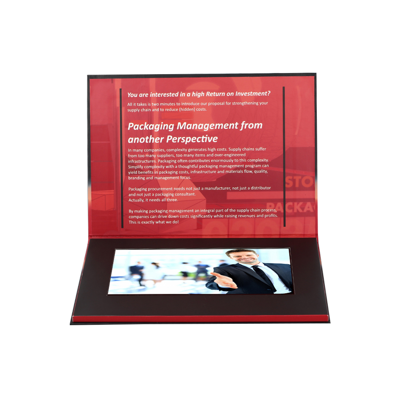 Wholesale custom 10 inch lcd ips screen video booklet advertising brochure with buttons
