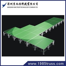 outdoor quick truss style event stage design and setup