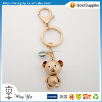 Manufacturer trendy Cute Teddy Bear Metal Promotion Key Ring