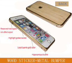 Welcome moblie accessory phone cover wood sticker metal bumper phone case cover for iphone series