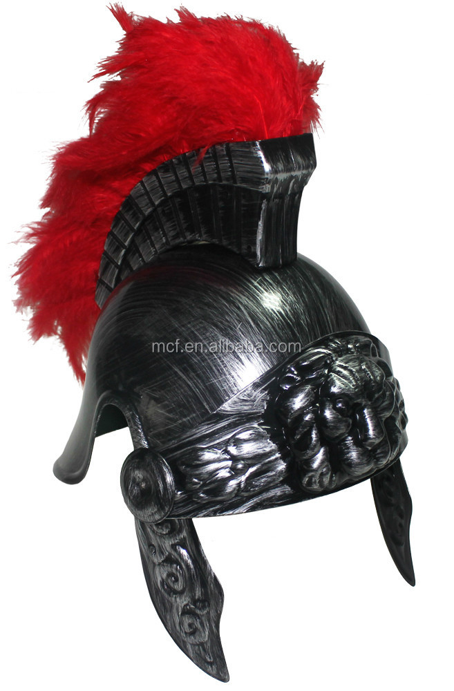 wholesale Party plastic toy roman gladiator helmet RH-0021
