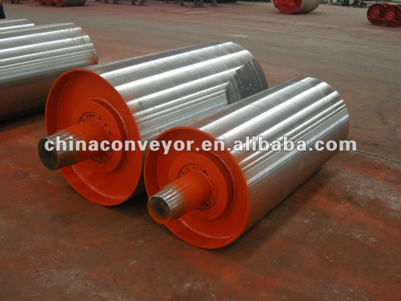 Conveyor bend pulley use for mining harbor