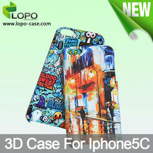 Popular customizable sublimation 3D phone case for iphone 5C