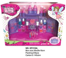 Top quality kids makeup sets plastic toy makeup set for sale