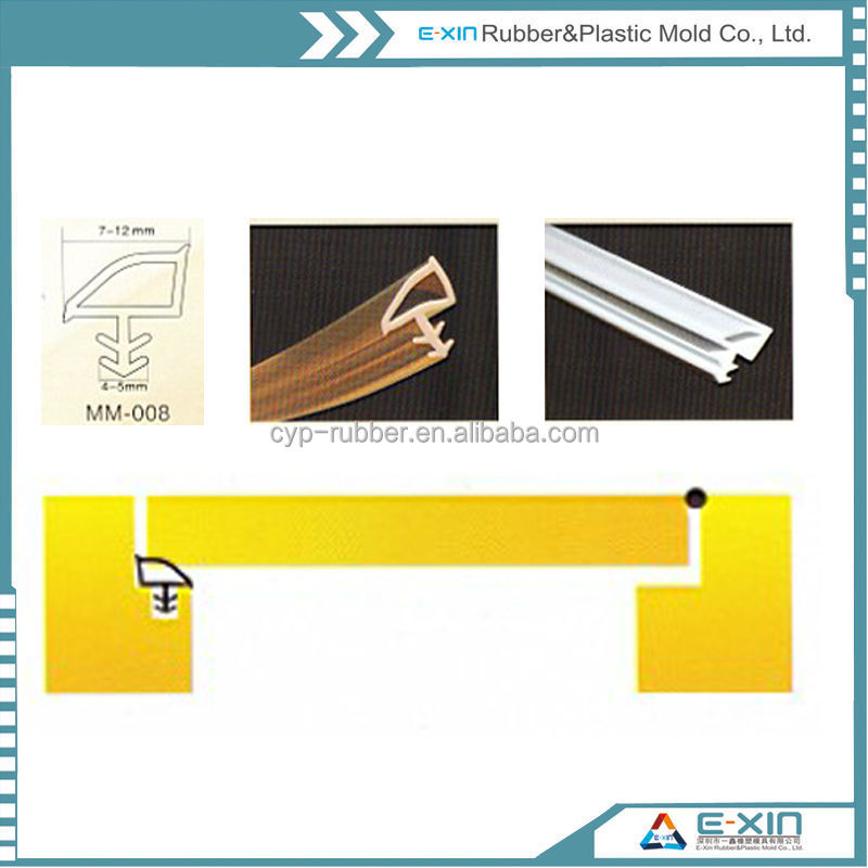 Artistic/water-proof Silicone/PVC Rubber seal strip for door & windows