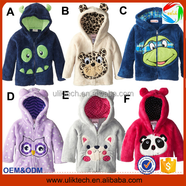 China supplier hot selling new style winter coat for children wear cartoon fur coat kids wholesale winter jacket kids(ulik-J010)