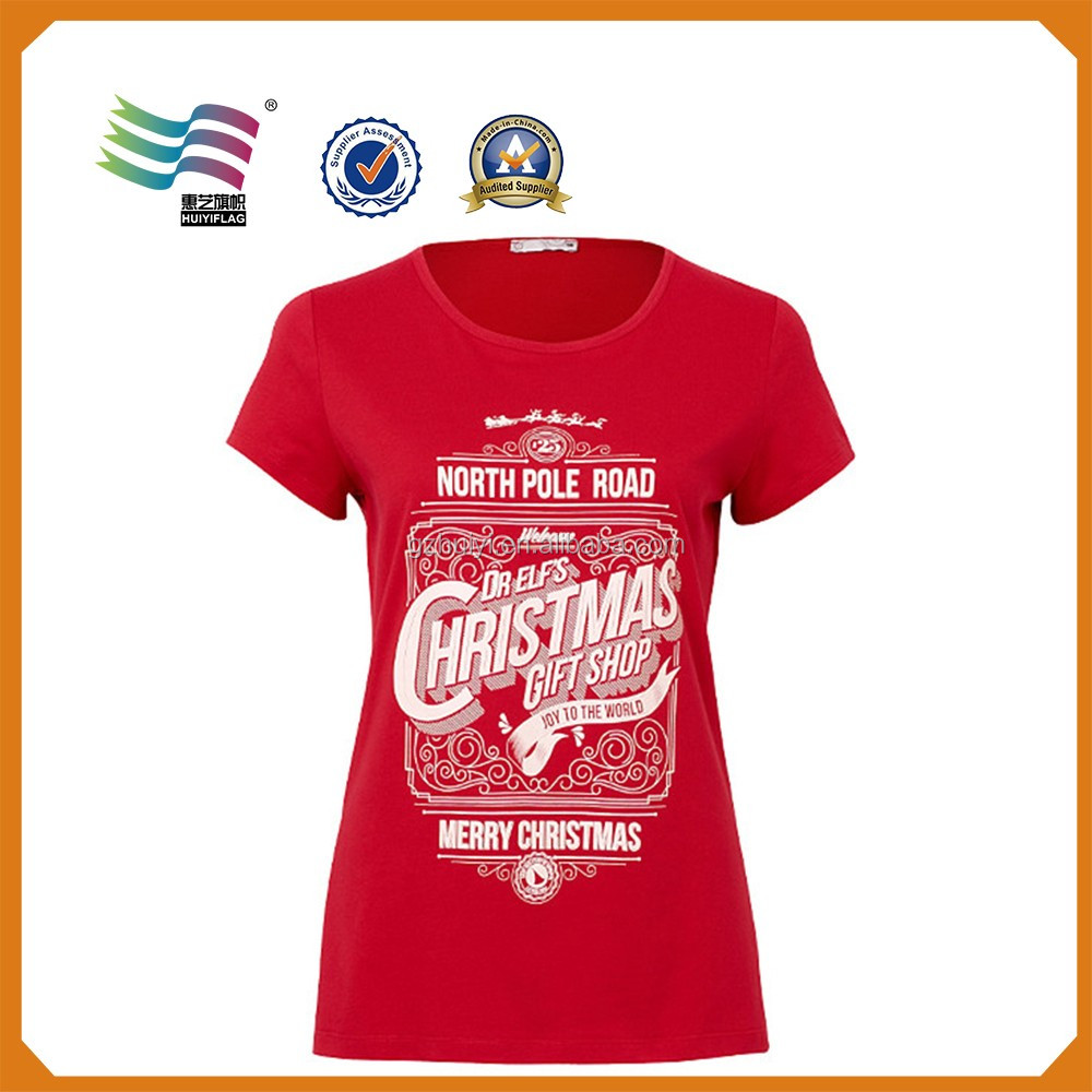 Wholesale Personalized 100 Cotton Christmas Tee Shirts