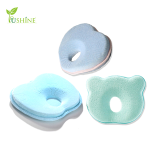 100% Cotton Cover Custom Design Memory Foam Head-shaping Baby Pillow With Flat Head Shaping Best for Toddler and Newborn