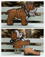 Top quality hotsell promotion gifts csutom 3D cute usb cartoon dog flash drives