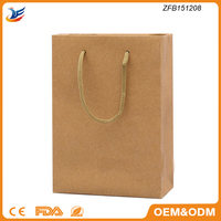 wholesale Factory direct made Recycled kraft paper bag with twisted paper handle