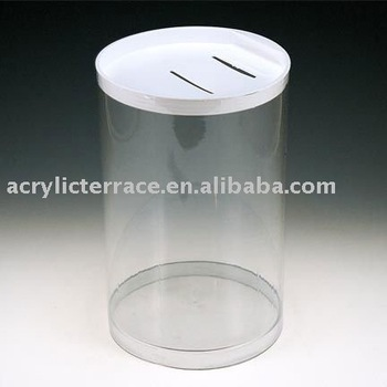 Large Clear Coin Can Donation Containers