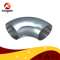 high quality sanitary pipe fitting stainless steel DIN 11850 series 2 welded elbow