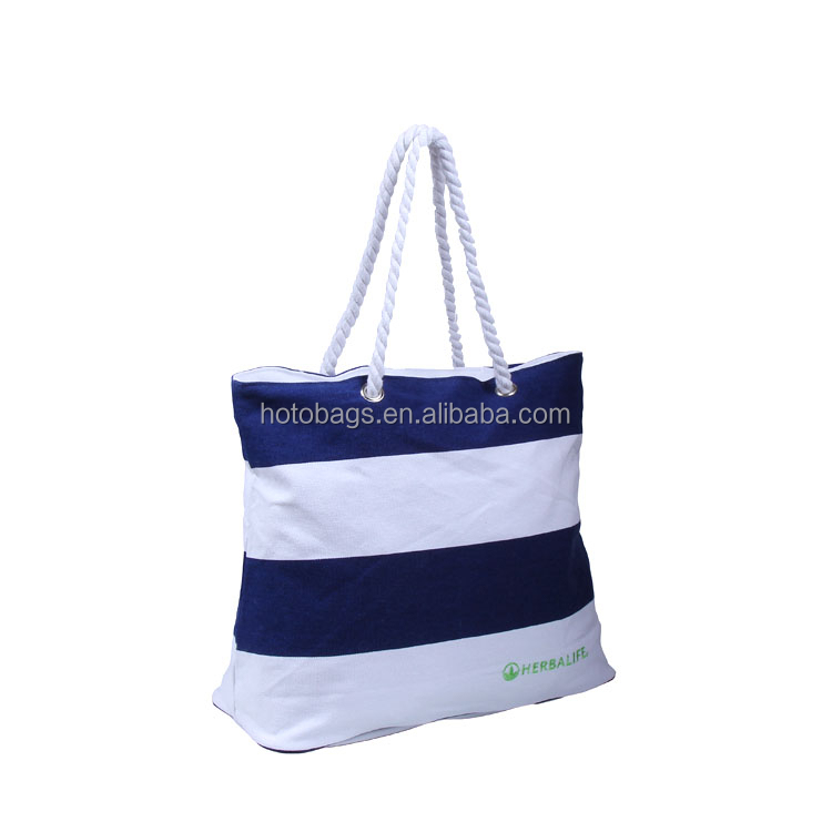 Wholesale big canvas beach bag Yiwu factory offer