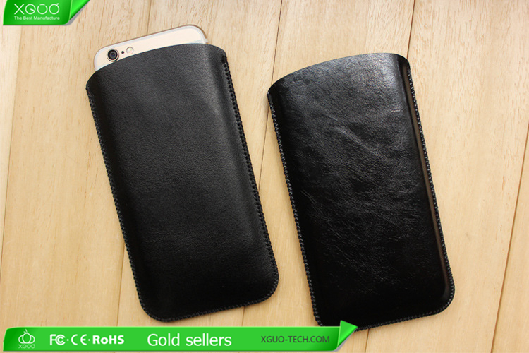 Wholesale Full grain genuine leather phone bag for iphone 6s