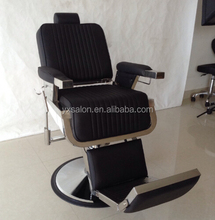 2017 Latest Stainless Steel Heavy Duty Black Barber Chair(DCA2109B)
