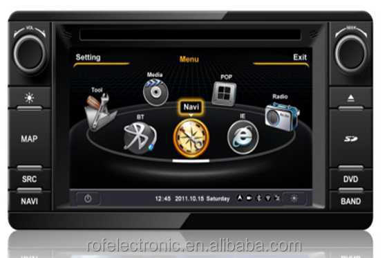 2 din radio car dvd player gps for Mitsubishi Outlander 2013 with gps navigation system with BT, Touch Screen, iPod, Radio etc..