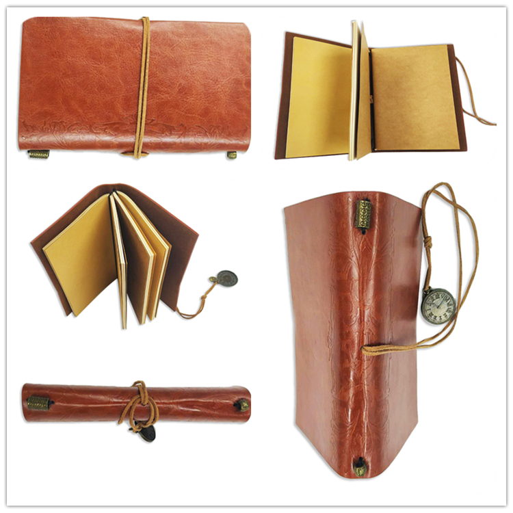 PU Leather Journal Vintage Style Travelers Notebook Leather With Credit Card Holder