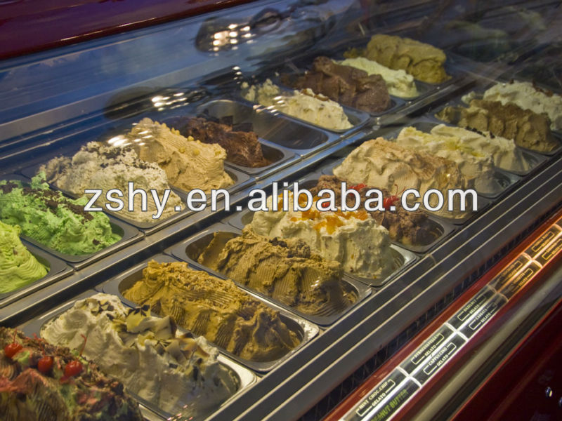 Italian Gelato Displays with 4.5liters pans
