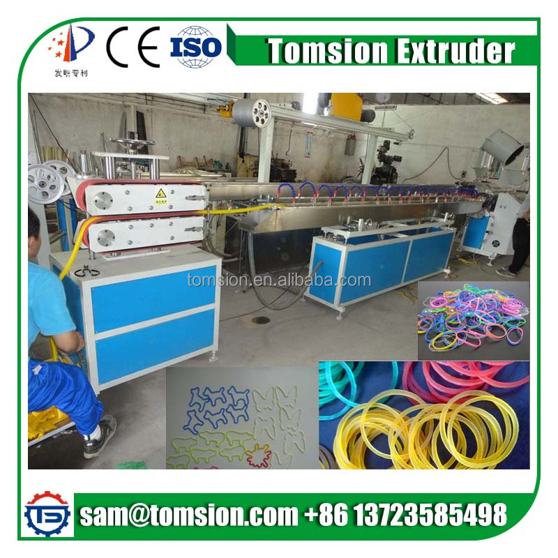 Automatic TPR TPU Rubber Band Plastic Extruding Making Machine