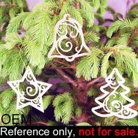 new custom cheap hanging outdoor metal car christmas tree ornament