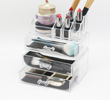 3 Drawers Acrylic Clear Makeup Perfume Drawer Organizer