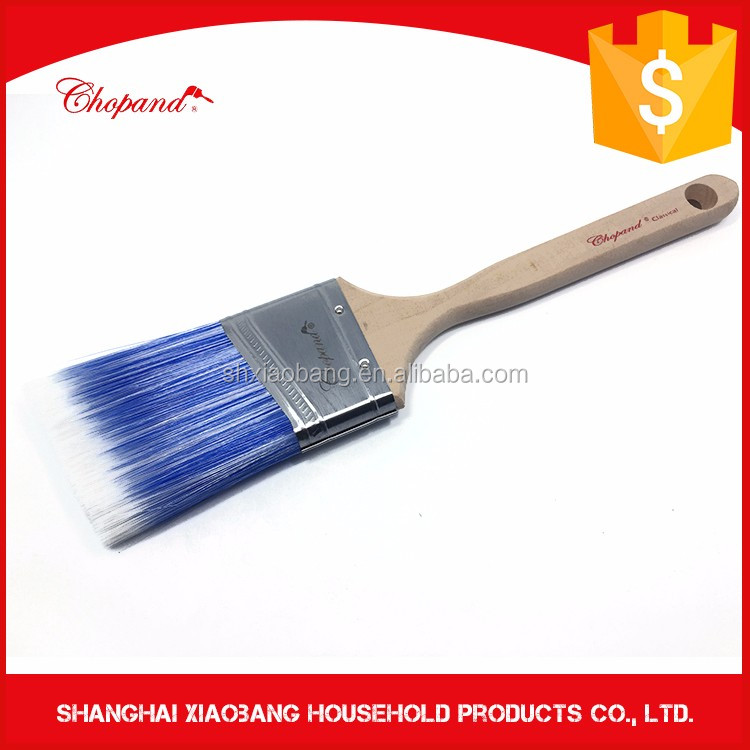Blue Nylon Paintbrush Wooden Handel kids paint brushes