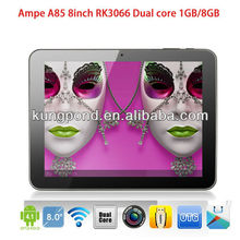 Ampe A85 8inch tablet RK3066 Cortex A9 Dual core 1.6ghz