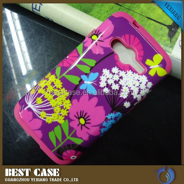 New design custom printed combo case for samsung galaxy ace 4 G313H phone cover